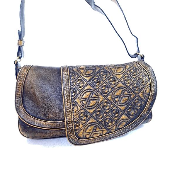 Francesco Biasia Purse Leather Antique Vintage Bag